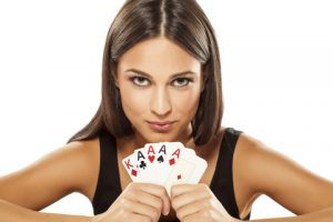 girl with cards