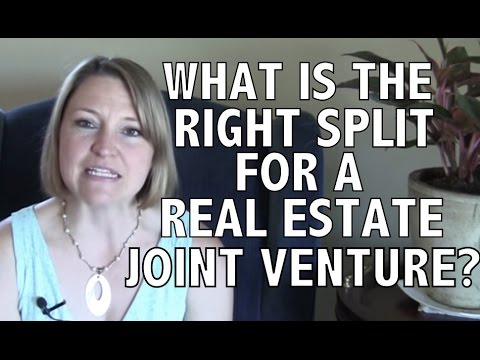 What is the right split for a real estate joint venture deal?